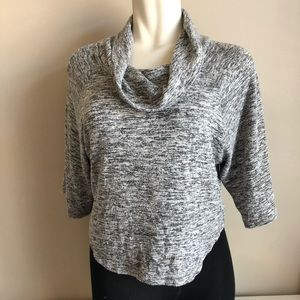 Philosophy grey marled cowl neck dolman top sz.S